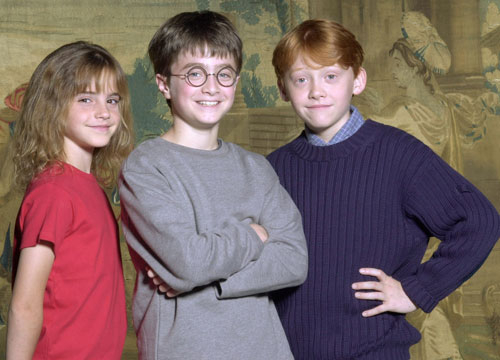 Harry Potter Through the Years - Here's the famous trio in 2000.
