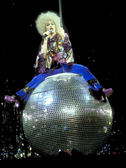Top 10 Madonna tour costumes - Madonna during Girlie Show Tour at MSG at Madison Square Show in New York City, 1993
