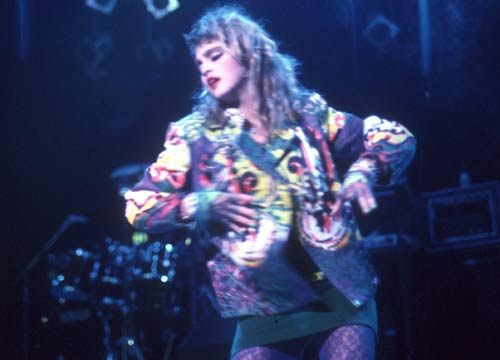 Top 10 Madonna tour costumes - Madonna performs onstage at Madison Square Garden in 1984 in New York City, New York.