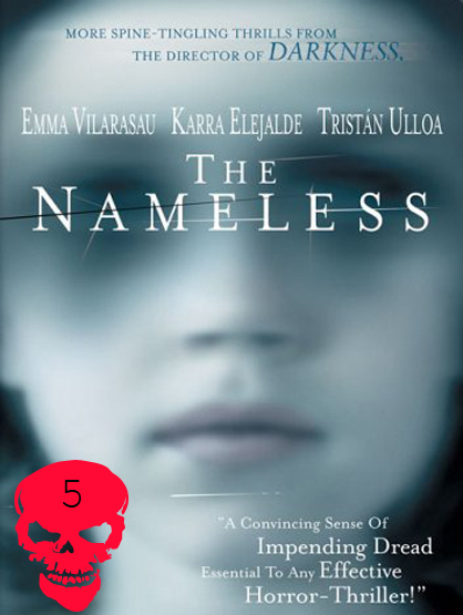 Top 10 Horror Films! - The Nameless: Claudia (Emma Vilarasau) is a mother still mourning the death of her daughter and the abandonment of her husband. One day, she receives a call from a girl claiming to be her daughter. A cop and journalist help Claudia unravel the truth of what happened to her daughter. Director: Jaume Balaguer