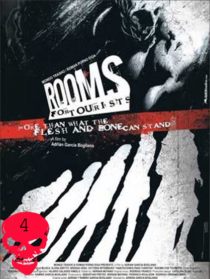 Top 10 Horror Films! - Rooms For Tourists:When Elena (Jimena Kroucco) and Theda (Elena Sirito) miss their connecting train in the small Argentinean town of San Ramón, they check into a bed and breakfast and meet three other girls (Mariela Mujica, Victoria Witemburg and Brenda Vera) Once one of the girls turns up dead they realize they may never check-out. Directorial debut of Adrían García Bogliano.