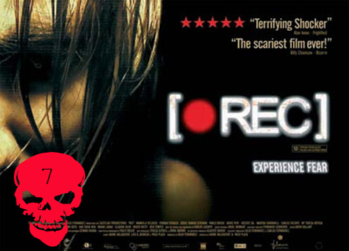 Top 10 Horror Films! - [REC] : Residents, firefighters and a growing fleet of hungry zombies are trapped in a quarantined Barcelona apartment. A reporter r Angela (Manuela Velasco) and her cameraman, Pablo are also trapped and record the deaths and events while trying to stay alive. Directed by : Jaume Balaguero and Paco Plaza.