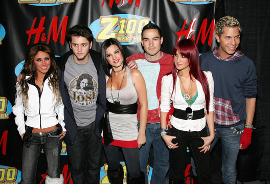 The Many Looks of Anahi - At the Z100's Jingle Ball in 2006. (L to R) Anahi Puente, Christopher Uckermann, Maite Perroni, Alfonso Herrera, Dulce Maria and Christian Chavez of RBD.