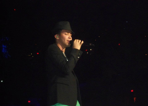 Fresh Buzz From the Road: San Antonio - Here's Prince Royce on stage.