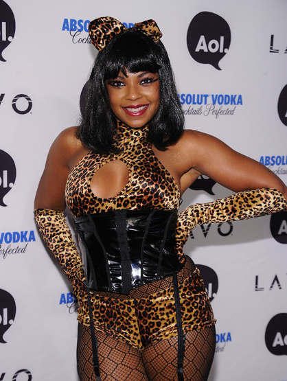 Halloween Costumes Through the Years - Ashanti dressed up as a Leopard.