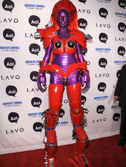 Halloween Costumes Through the Years - Heidi Klum, the reigning queen of Halloween costumes as a superhero.