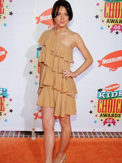 Lindsay Lohan Through the Years - Apr 2006: At the19th Annual Kid's Choice Awards.