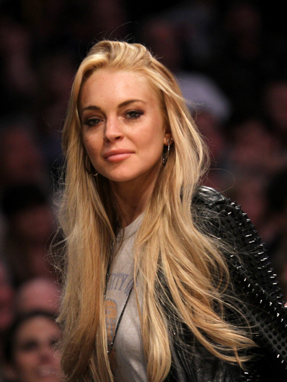 Lindsay Lohan Through the Years - Jan 2011: At a New York Knicks v Los Angeles Lakers game.