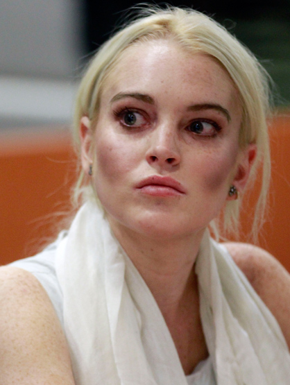 Lindsay Lohan Through the Years - Oct 2011: At her Progress Report Hearing.