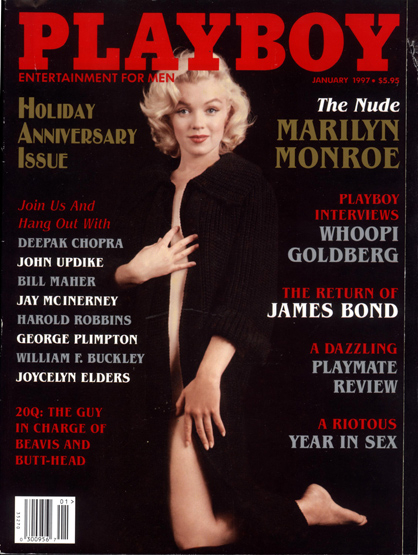 Celebs On the Cover of Playboy - Marilyn Monroe (Dec. 1953 and Dec. 2005) (Never actually posed for Playboy itself)