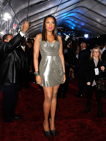 The Best and Worst Dressed of the 2011 AMAs! - BEST Jennifer Hudson: Flaunting her new slimmer figure in a short metallic number that makes her legs go on forever. Also a hit on the hair and make-up!