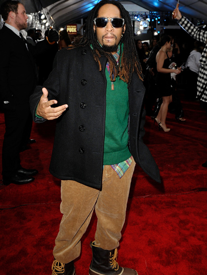 The Best and Worst Dressed of the 2011 AMAs! - WORST Lil Jon: Did Lil Jon get confused as to where he was going? Did he think there was going to be snow? Confusion is the only excuse for this outfit.