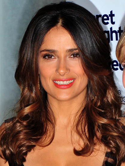 "Celebrity Parents who Voice Children's Movies - Salma Hayek voiced Kitty Softpaws in ""Puss In Boots."" She says"