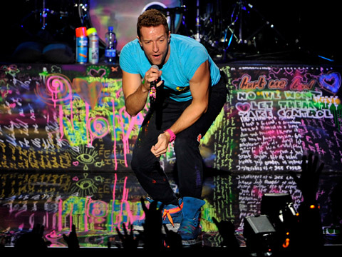 EMA 2011: Best Moments - Chris Martin of Coldplay performs onstage during the MTV Europe Music Awards 2011 live show at at the Odyssey Arena on November 6, 2011 in Belfast, Northern Ireland.