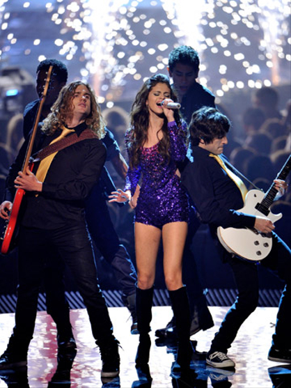 EMA 2011: Best Moments - MTV Europe Music Awards hostess Selena Gomez performs onstage during the MTV Europe Music Awards 2011 live show at the Odyssey Arena on November 6, 2011 in Belfast, Northern Ireland.