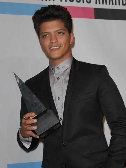 Faces and Places - 11.20.2011 Bruno Mars at the 2011 American Music Awards Pressroom held at the Nokia Theater L.A.Live.