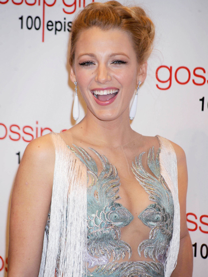 Faces and Places - 11.19.2011 Blake Lively at the celebration of the 100th Episode of