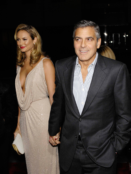 Faces and Places - 11.15.2011 Stacy Keibler and George Clooney during the premiere of the new movie from Fox Searchlight Pictures THE DESCENDANTS.