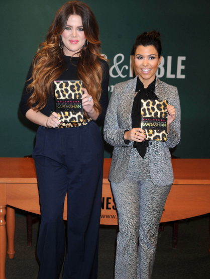 Faces and Places - 11.16.2011 Kourtney & Khloe Kardashian Sign Copies Of