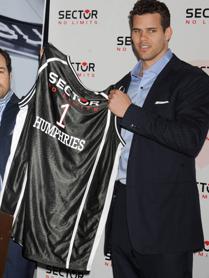 Faces and Places - 11.17.2011 Kris Humphries Announces Brand Endorsement.