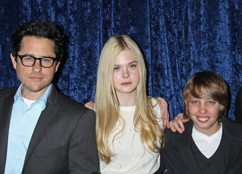 Faces and Places - 11.12.2011 J.J. Abrams, Elle Fanning, Ryan Lee, Super 8, Blu-ray and DVD debut, The Academy of Motion Picture Arts & Sciences, (Beverly Hills, CA.)