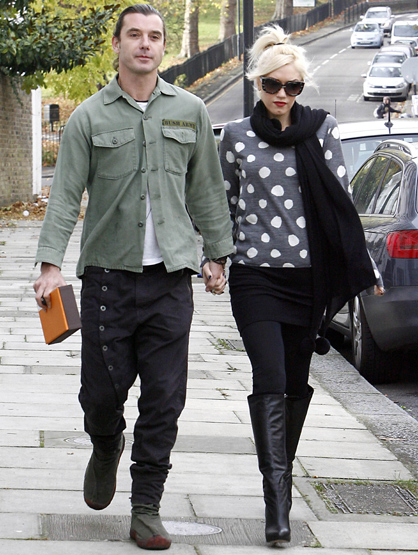 Faces and Places - 11.23.2011 Gwen Stefani and Gavin Rossdale out and about. (London, England)