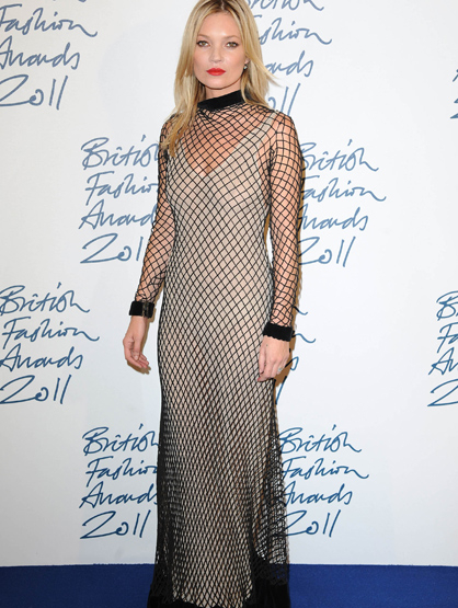 Faces and Places - 11.28.2011 Kate Moss at the British Fashion Awards. (London, England)
