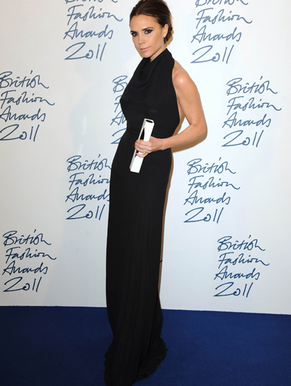 Faces and Places - 11.28.2011 Victoria Beckham at the British Fashion Awards. (London, England)
