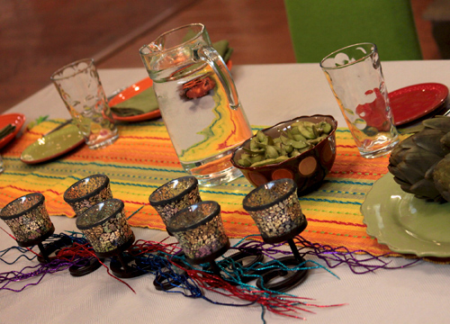 Rock Dinner: Juan Pablo Angel - Table Setting.