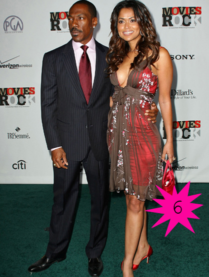 Top Shortest Celebrity Marriages - Eddie Murphy and Tracey Edmonds married in an unofficial ceremony for 15 days beforethings ended. Wedding guests stated that Eddie was yelling at Tracey and that it was embarrassing.