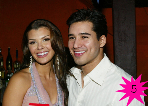 Top Shortest Celebrity Marriages - Mario Lopez and Ali Landry were official for 13 days before Slater and the former Doritos Girl ended things. Apparently Lopez cheated the day before the wedding and again after.