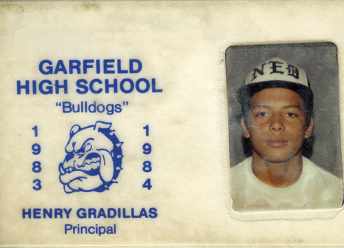 La Escalera: Carlos Mencia - 1983 High School ID.