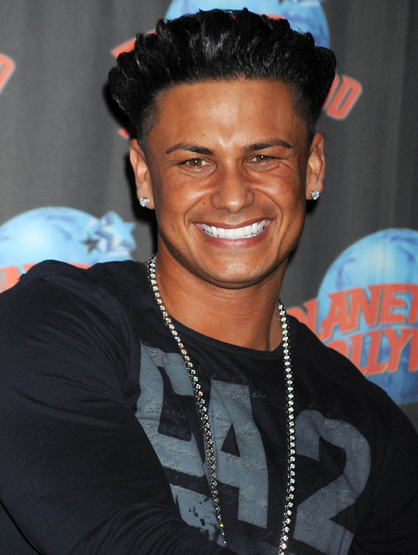 Faces and Places - 11.30.2011 Pauly D at a handprint ceremony at Planet Hollywood. (NYC)