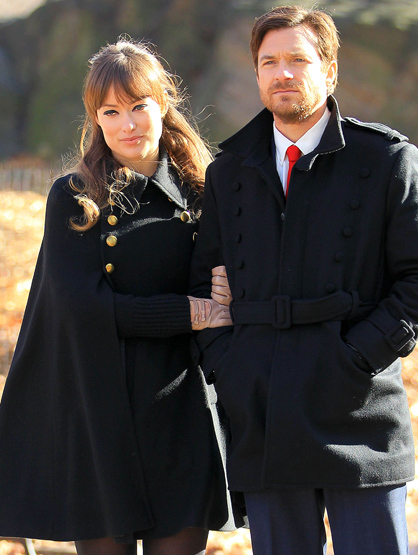 Faces and Places - 12.02.2011 Olivia Wilde and Justin Bateman on the set of