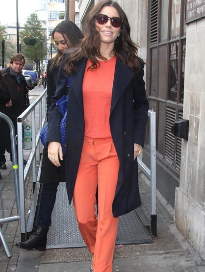 Faces and Places - 12.02.2011 Jessica Biel out and about. (London, England)