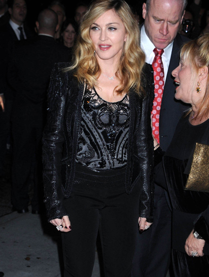 Faces and Places - 12.04.2011 Madonna at a screening of