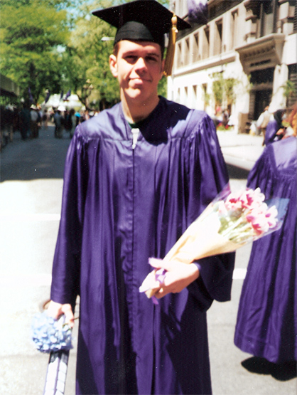 La Escalera: Perez Hilton - Perez graduating from NYU with honors.