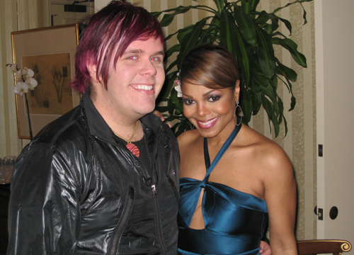 Perez's Celebrity Friends - Perez with Janet Jackson.