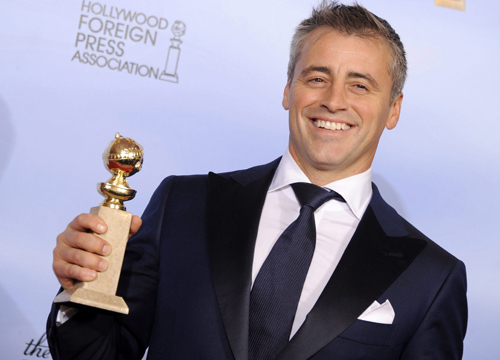 Faces and Places - 1.15.2012 Matt LeBlanc poses with her award for Best Actor in a Comedy or Musical Series for Television for her work in