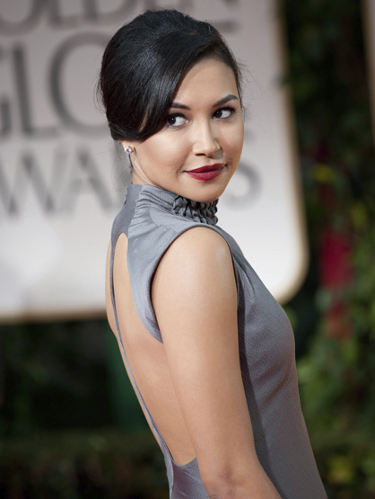 Faces and Places - 1.15.2012 Naya Rivera on arrival at the ceremony of the 69th edition of the Golden Globes.