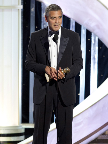 Faces and Places - 1.15.2012 George Clooney wins the Golden Globe for best dramatic actor for his work in