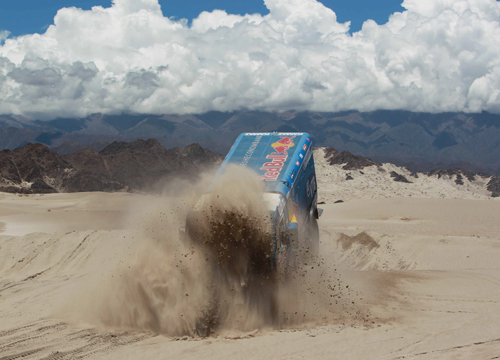Faces and Places - 1.5.2012 The Russian Kamaz Eduard Nikolaev leads in the fifth stage between Chilecito and Fiambala (Argentina).