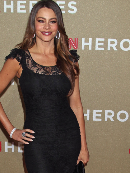 Faces and Places - 12.11.2011 Sofia Vergara, CNN Heroes All-Star Tribute.