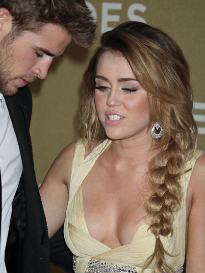 Faces and Places - 12.11.2011 Liam Hemsworth, Miley Cyrus, CNN Heroes All-Star Tribute.
