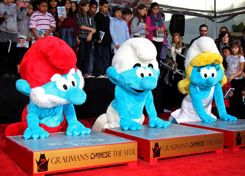 Faces and Places - 12.13.2011 Anton Yelchin, The Smurfs Hand and Footprint Ceremony.