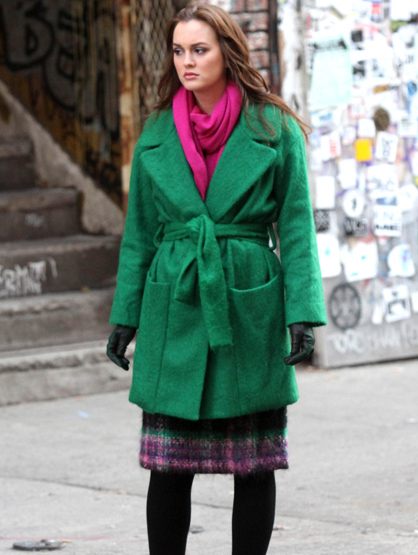 Faces and Places - 11.14.2011 Leighton Meester on the set of
