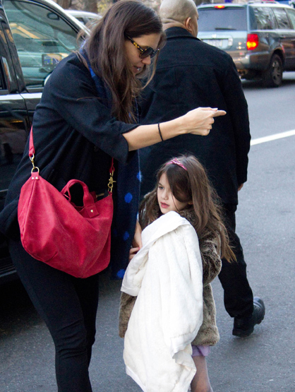 Faces and Places - 12.15.2011 Katie Holmes and Suri Cruise out and about. (NYC)