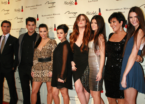 Faces and Places - 12.15.2011The Kardashian family arrives at the Grand Opening of Kardashian Khaos at the Mirage Hotel & Casino, Las Vegas.
