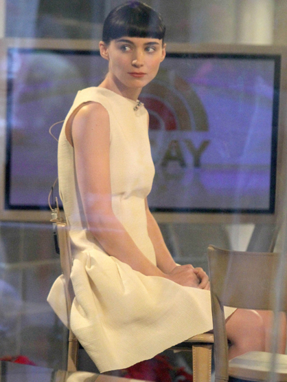 Faces and Places - 12.19.2011 Rooney Mara at 'Today' Show in New York City.