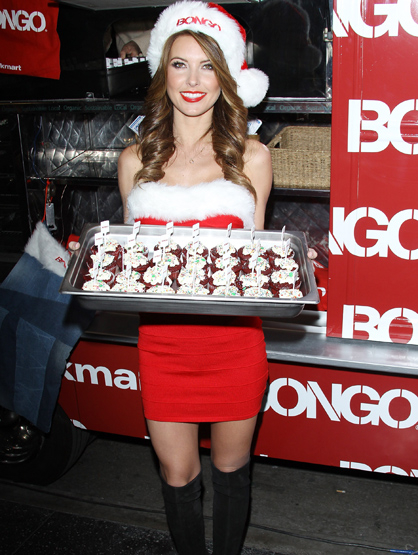 Holiday Spirit - : Audrina Patridge attends the Bongo holiday giveaway event .